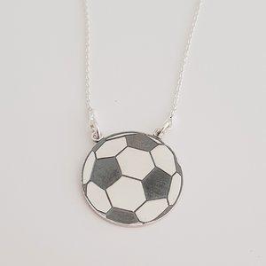 Lantisor Minge de Fotbal - Argint 925