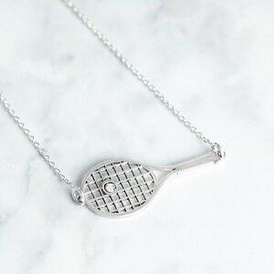 Lantisor Racheta de tenis - Argint 925 - cristal Swarovski
