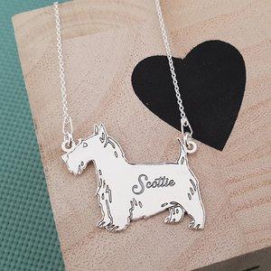 Lantisor cu pandantiv Scottish Terrier - Argint 925