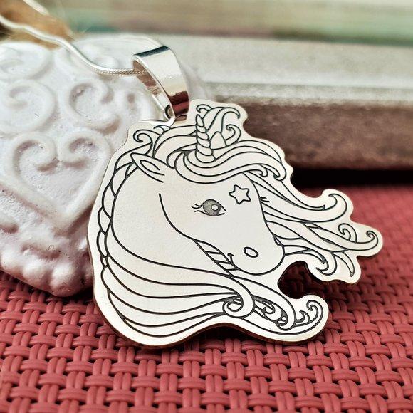 Lantisor Unicorn - Argint 925