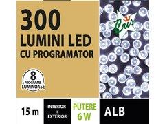 INSTALATIE TIP SIR 300 LED, 15M, CU JOC, ALB, CU TRANSFORMATOR, PENTRU INTERIOR/EXTERIOR