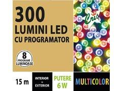 INSTALATIE TIP SIR 300 LED, 15M, CU JOC, MULTICOLOR, CU TRANSFORMATOR,PENTRU INTERIOR/EXTERIOR