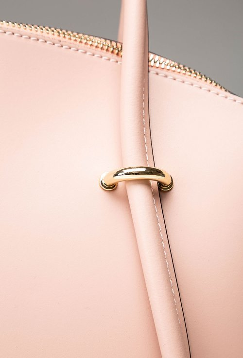 Geanta roz pal din piele naturala Flynn