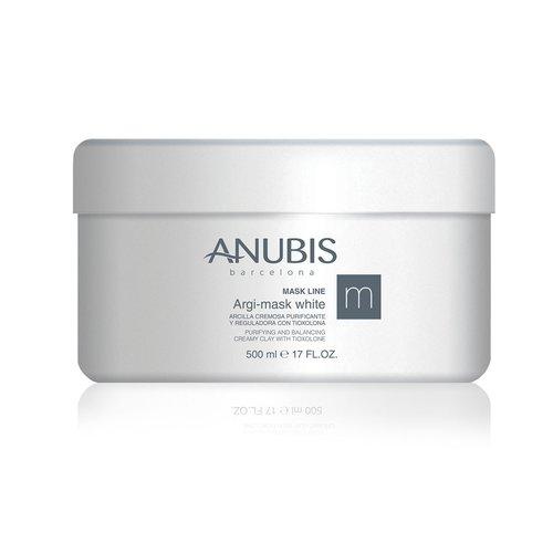 ANUBIS Argi-mask White - Masca cremoasa din argila alba si tioxolon pentru tenul gras/acneic 500 ml
