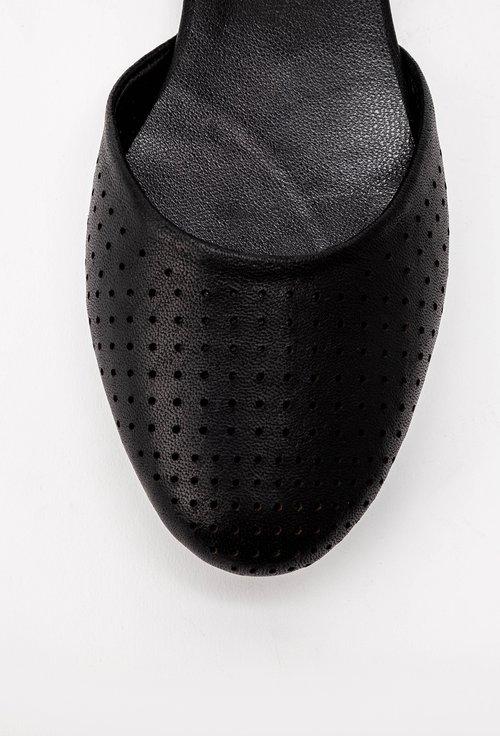 Balerini negri cu bareta din piele naturala Glosa