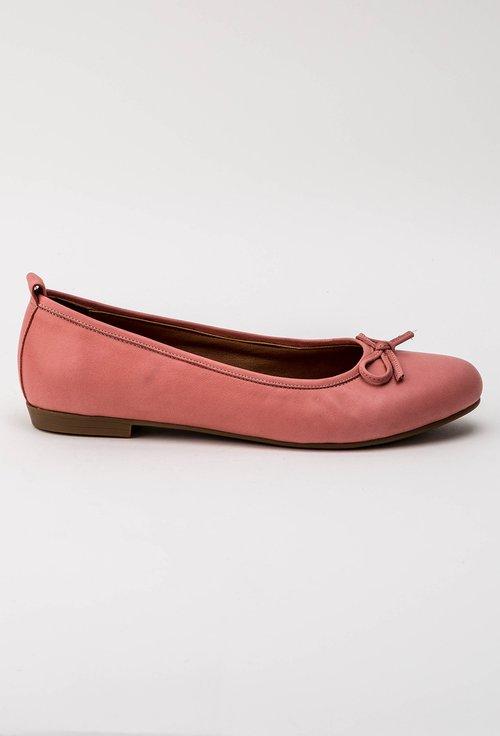 Balerini roz din piele naturala Alida