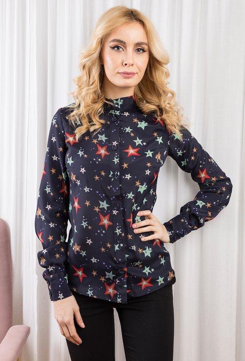 Bluza bleumarin cu stele colorate Celeste
