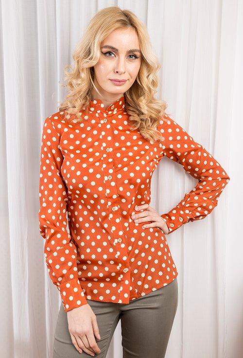 Bluza oranj cu buline Sara
