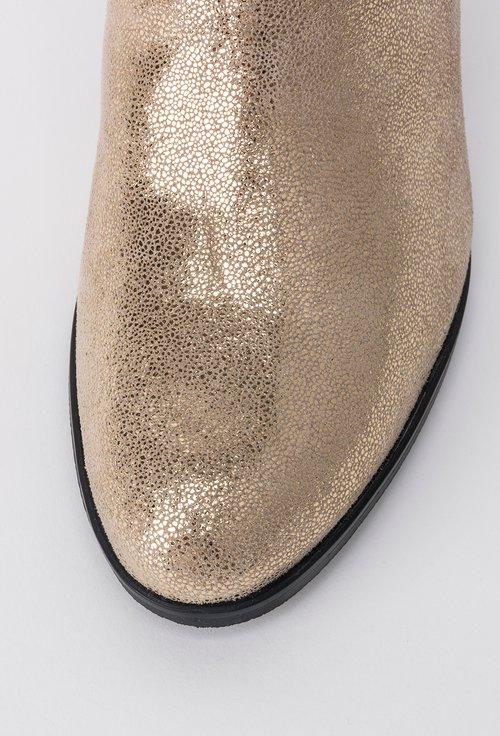 Botine aurii din piele naturala Nadya