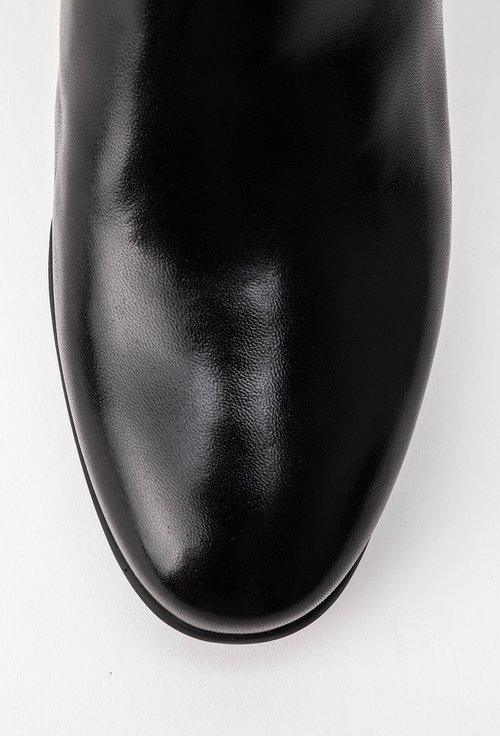 Botine negre din piele naturala Priscila