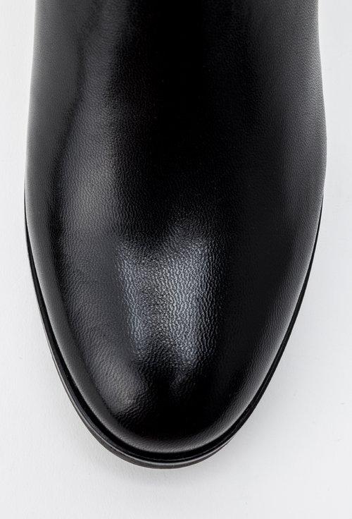 Botine negre din piele naturala Sol