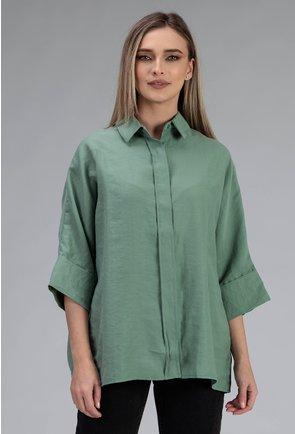 Camasa oversize verde