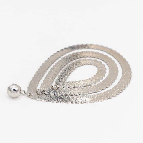 Cercei argintii ovali