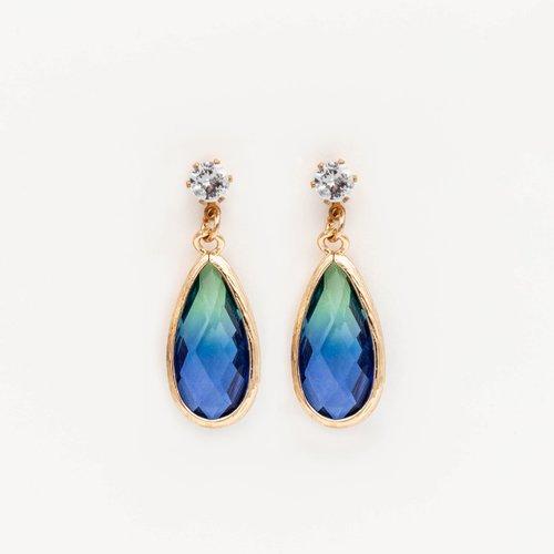 Cercei cu piatra in nuante de albastru