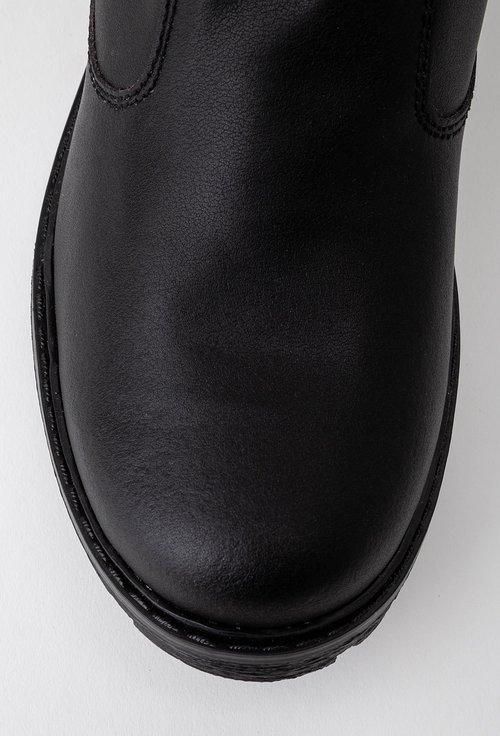 Cizme negre din piele naturala box cu doua fermoare