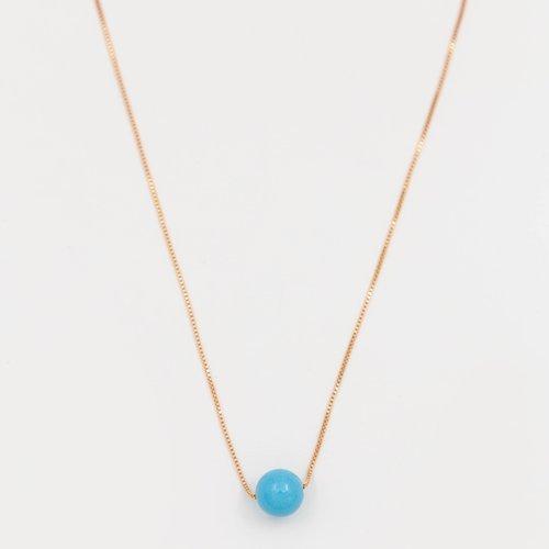 Colier cu pandantiv sfera albastra