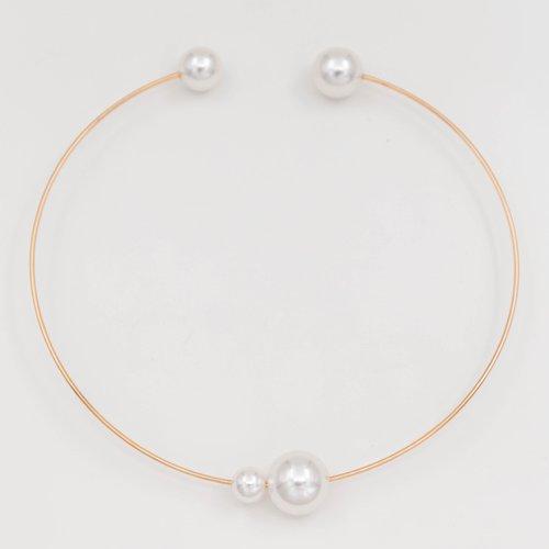 Colier tip inel cu perle