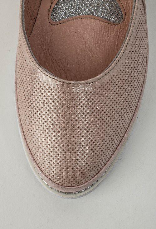 Espadrile roz pudra din piele naturala Charlie