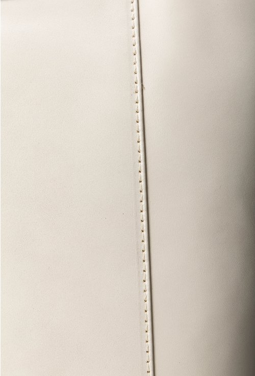 Geanta nuanta alb fildes din piele naturala