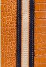 Geanta din piele naturala camel cu maner textil