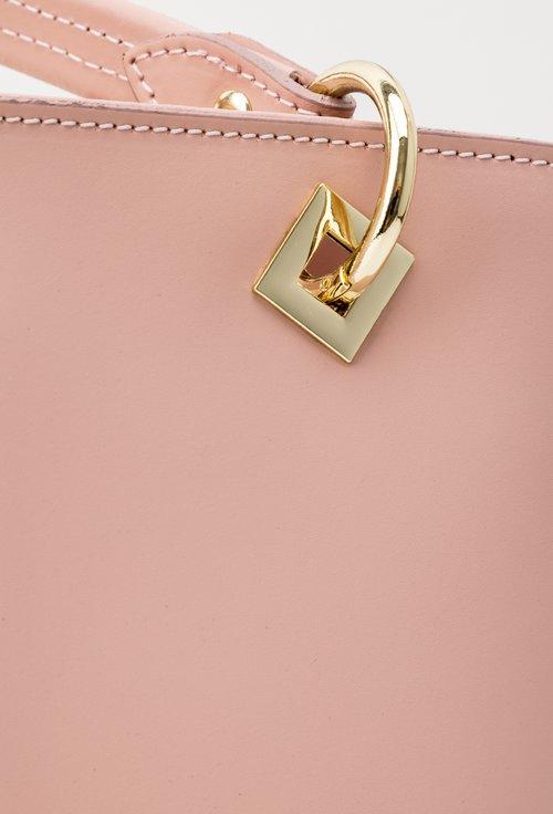Geanta roz din piele naturala Kristen