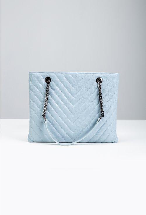 Geanta din piele naturală nuanta baby blue