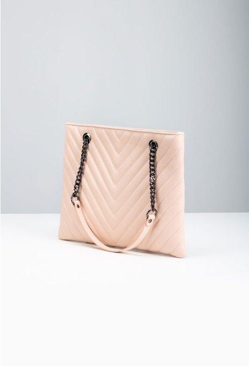 Geanta din piele naturala nuanta roz pal