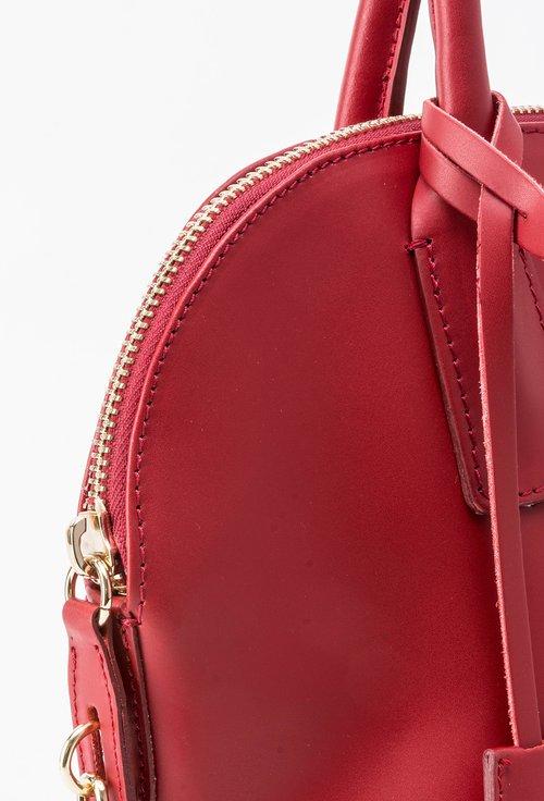 Geanta rosie din piele naturala Oriana