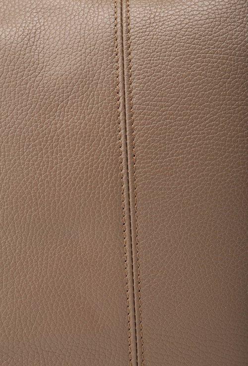 Geanta maro din piele cu doua buzunare verticale