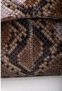 Geanta maro din piele naturala cu imprimeu tip piele de sarpe