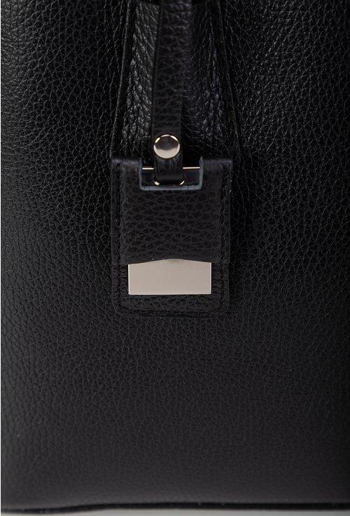 Geanta neagra compartimentata din piele naturala