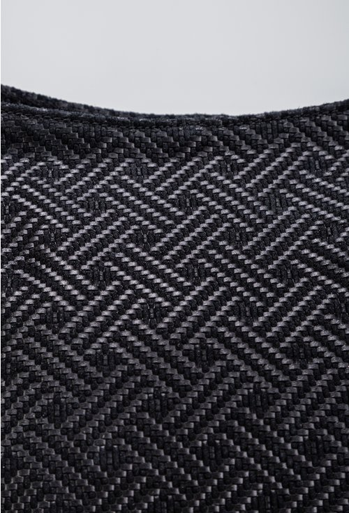 Geanta neagra din piele naturala cu design impletit