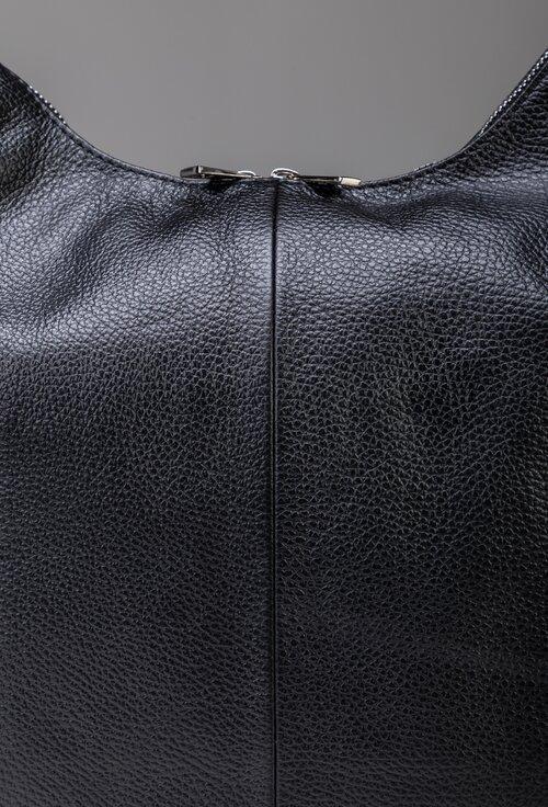 Geanta neagra din piele naturala de mari dimensiuni