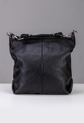 Geanta neagra din piele texturata