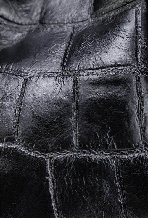 Geanta neagra tip shopper din piele naturala