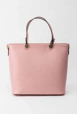 Geanta roz din piele naturala Polly