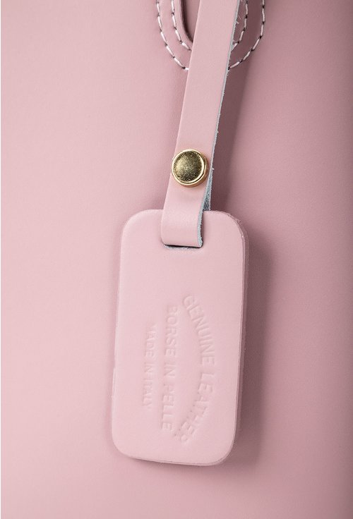 Geanta roz pudra lila din piele naturala