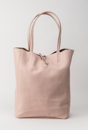 Geanta roz pudrat din piele naturala Aliona