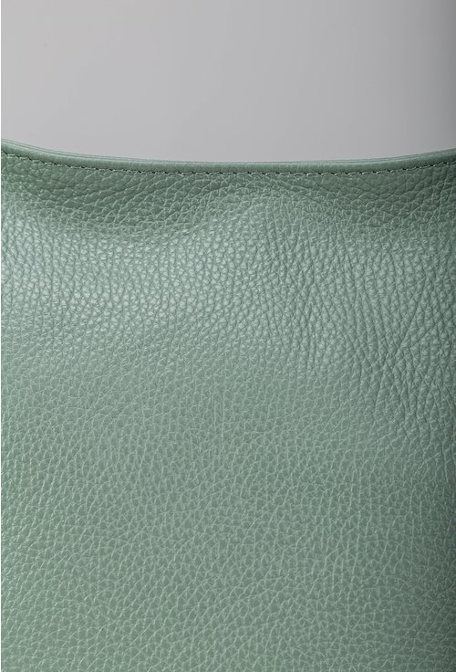 Geantă verde de umar compartimentata din piele