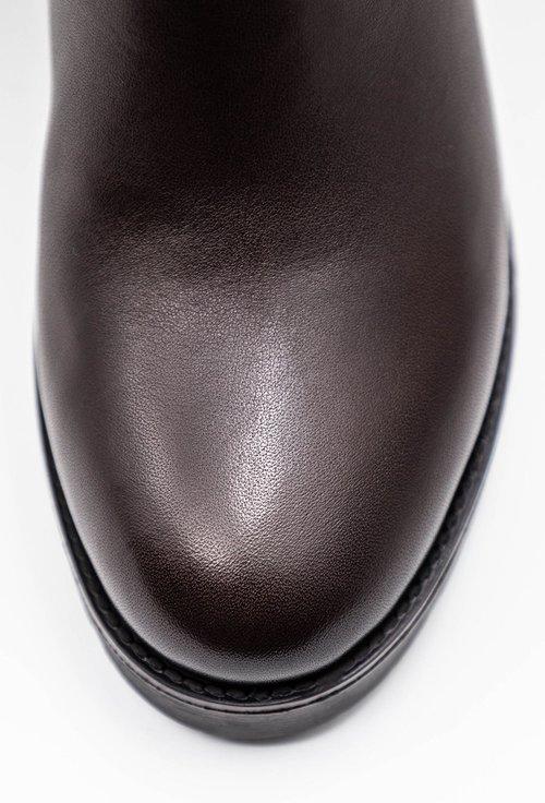 Ghete maro brun inchis din piele naturala box
