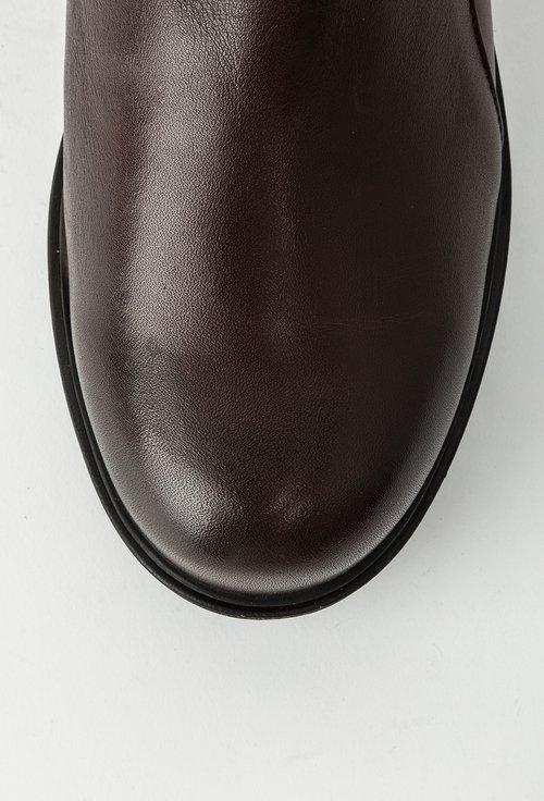 Ghete maro ciocolatiu din piele naturala Maribou
