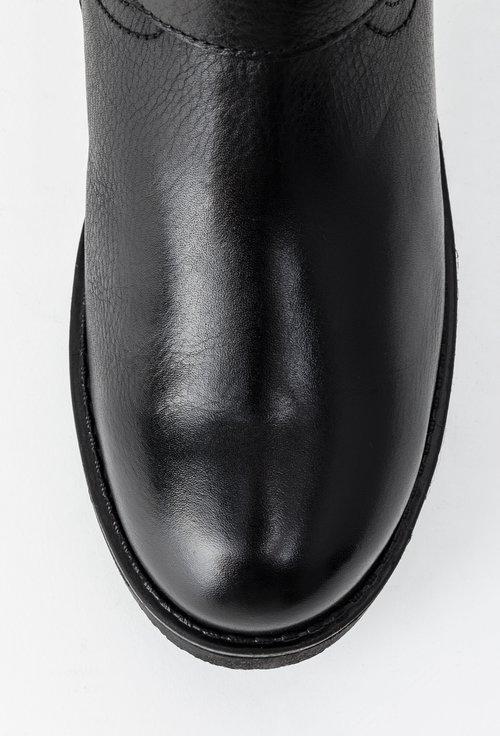 Ghete negre din piele naturala Shadow