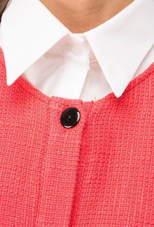 Jacheta din bumbac  corai cu insertii stralucitoare Mira