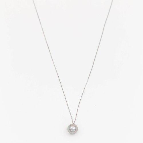 Lantisor cu pandantiv perla gri