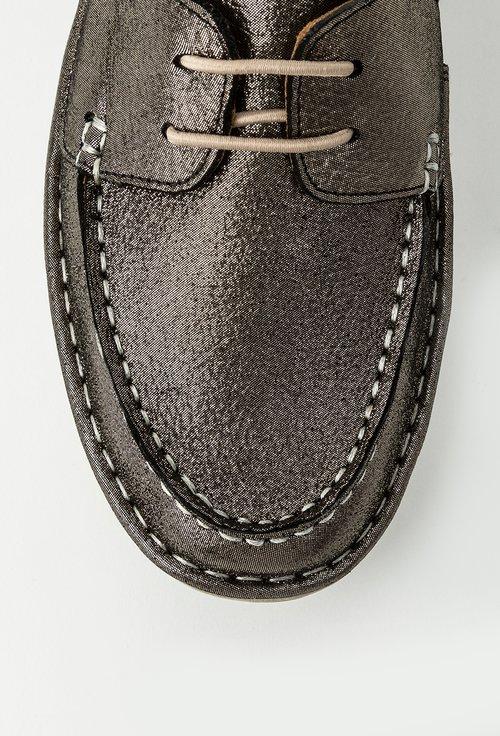 Loafersi din piele naturala cu inseratii sclipitoare Taylor
