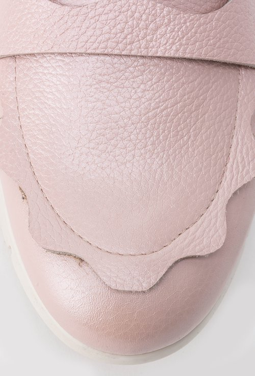 Mocasini roz pudra din piele naturala Ilma