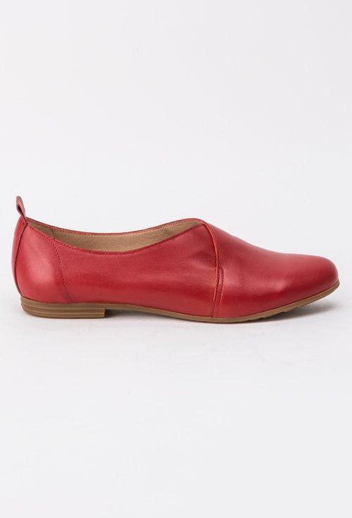 Pantofi rosii din piele naturala Ava