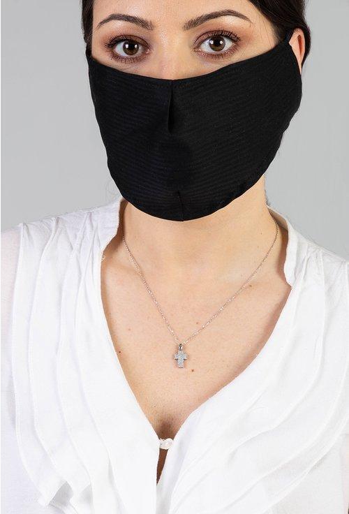 Pachet cu 10 masti negre din bumbac