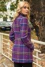 Palton in carouri cu imprimeu colorat Paloma