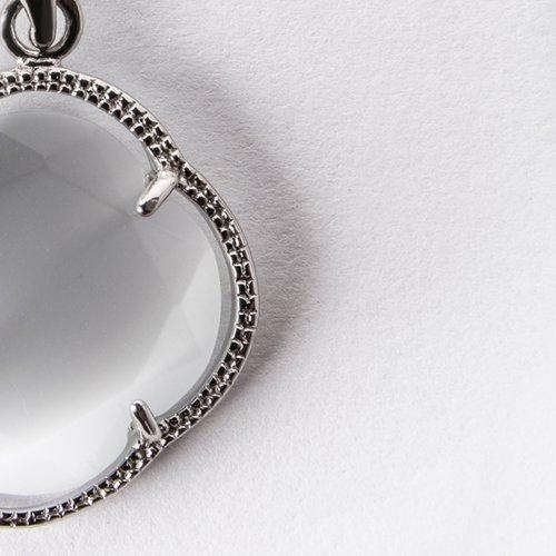 Pandantiv din argint cu piatra alba 37034